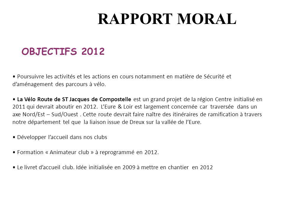 RAPPORT MORAL OBJECTIFS 2012