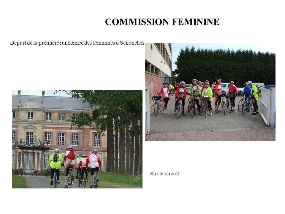 COMMISSION FEMININE Départ de la première randonnée des féminines à Senonches Sur le circuit