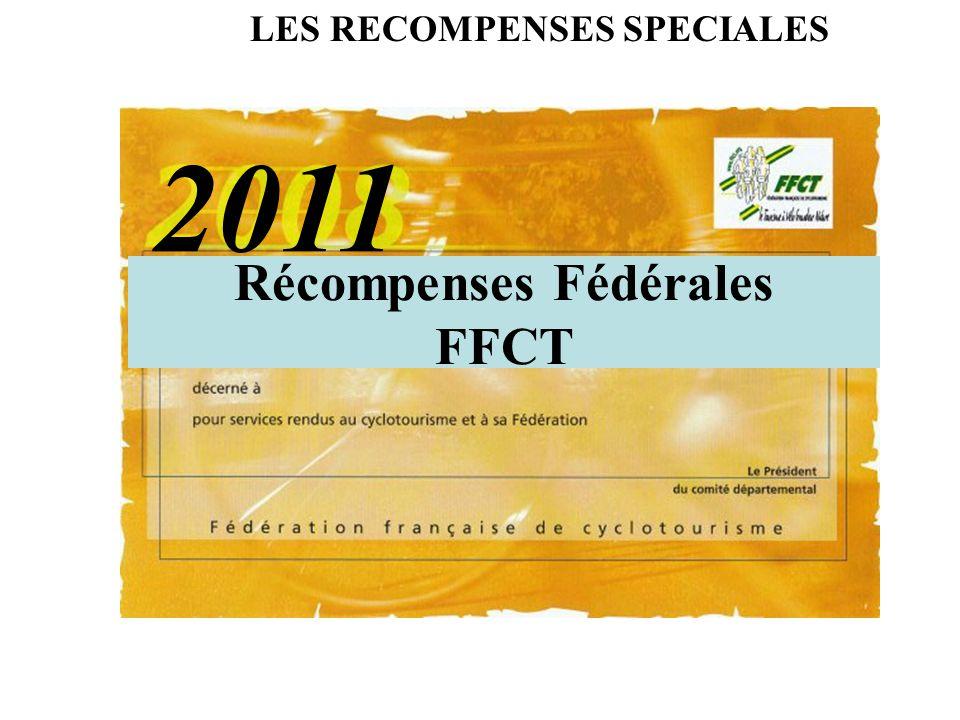 Récompenses Fédérales FFCT