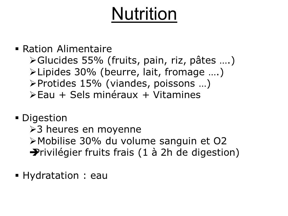 Nutrition Ration Alimentaire