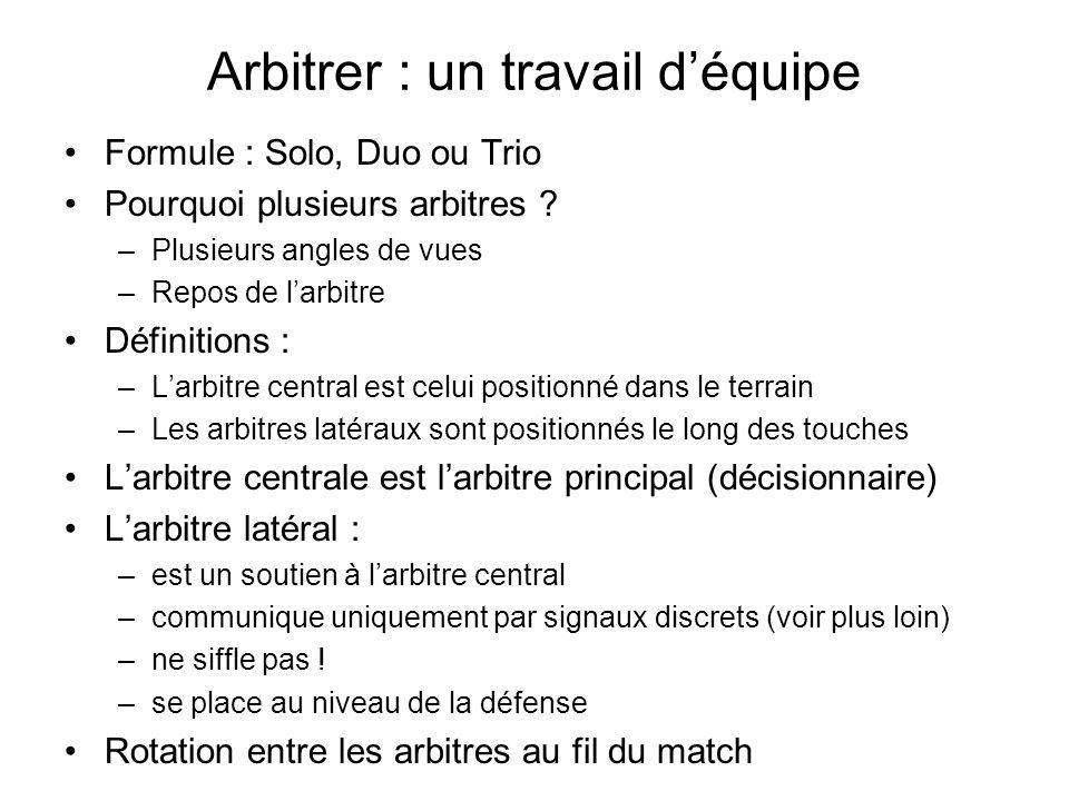 Arbitrer : un travail d'équipe