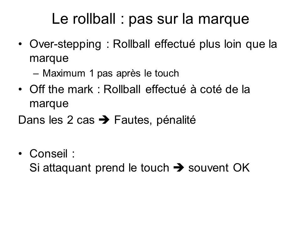 Le rollball : pas sur la marque