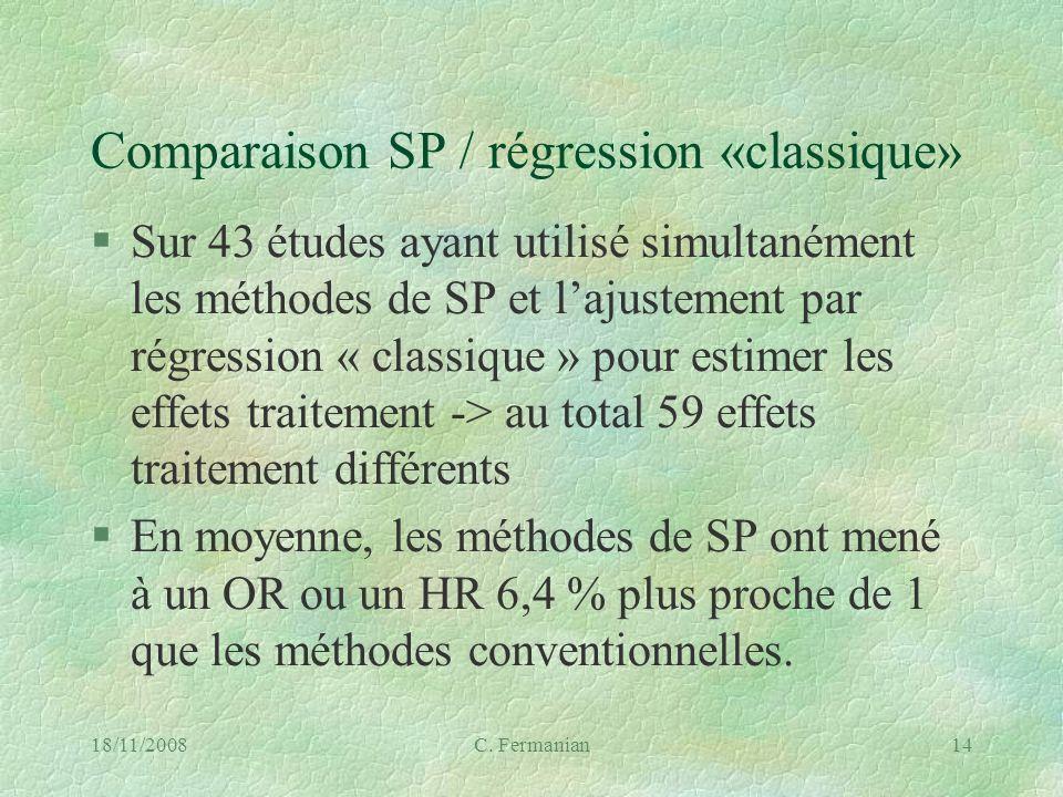 Comparaison SP / régression «classique»
