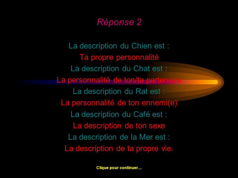 Réponse 2 La description du Chien est : Ta propre personnalité