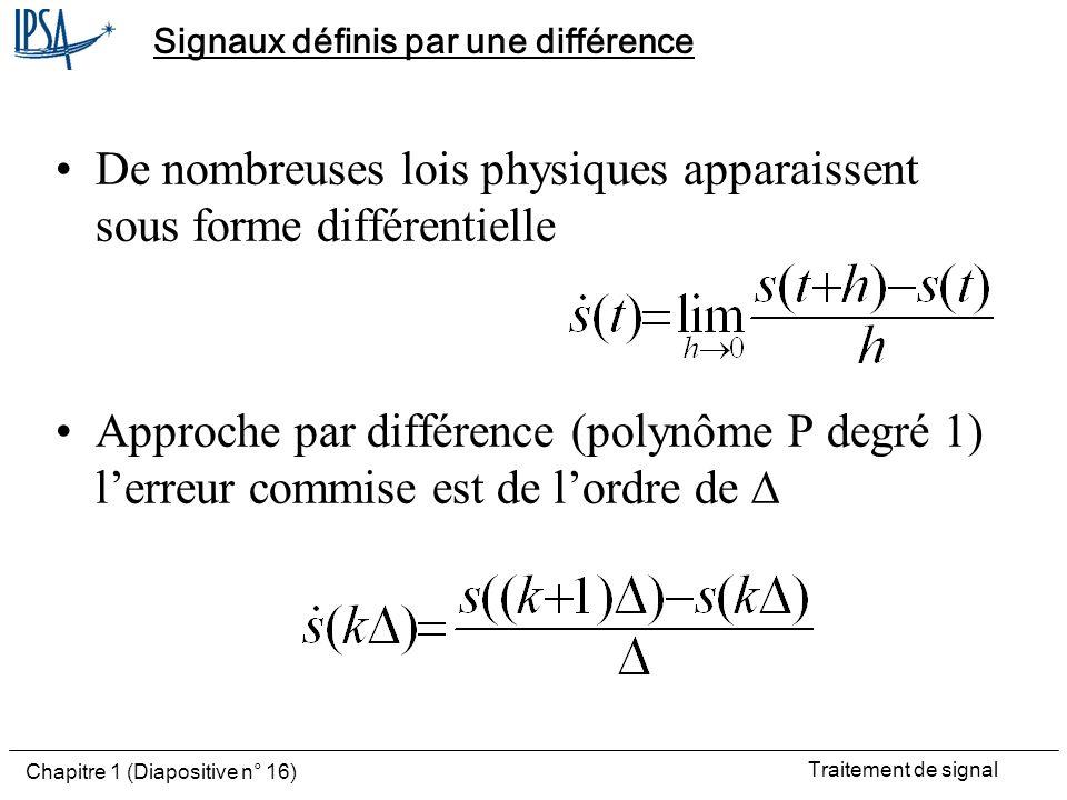Signaux définis par une différence