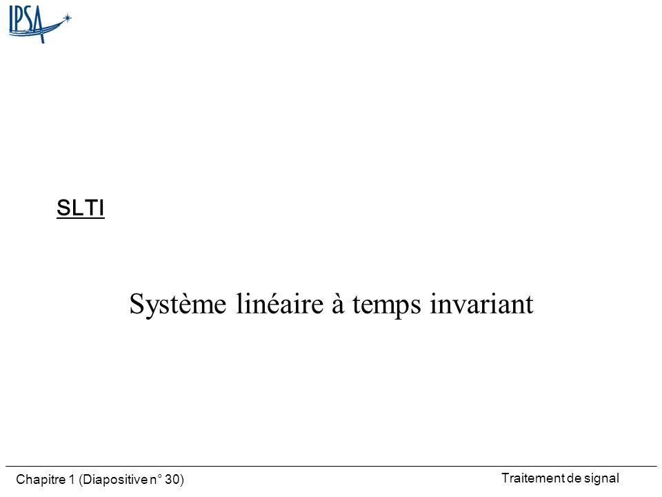 Système linéaire à temps invariant