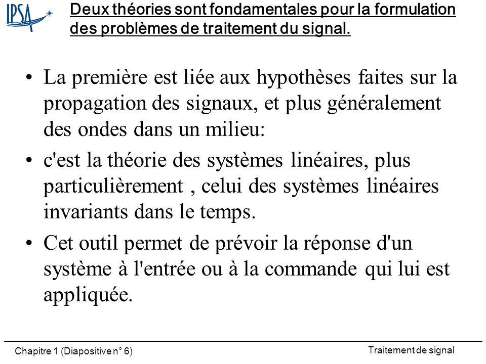 Deux théories sont fondamentales pour la formulation des problèmes de traitement du signal.