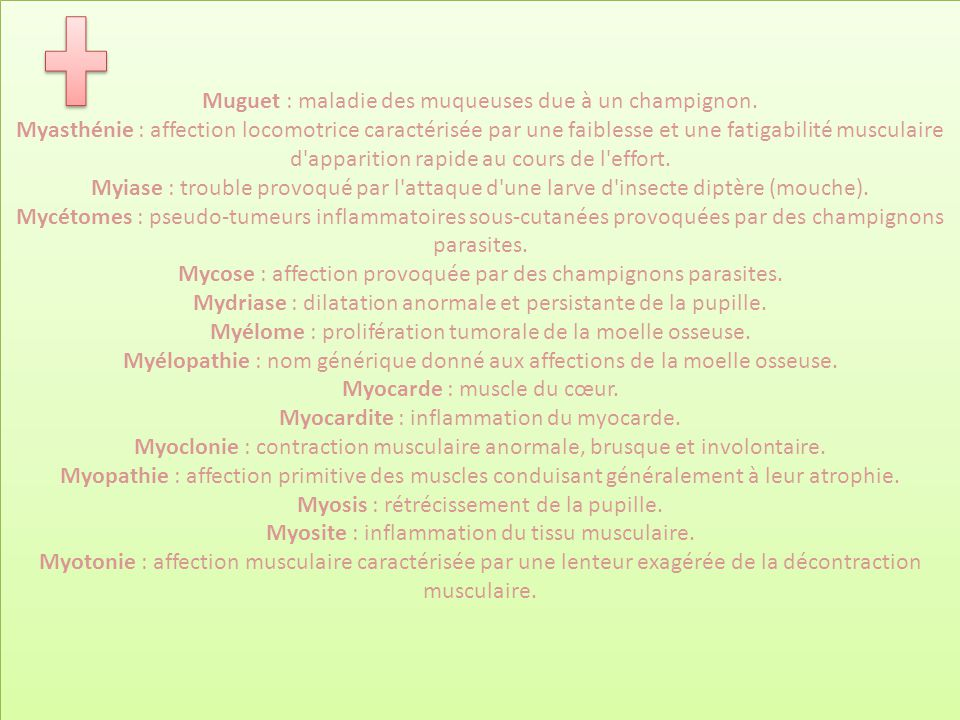 Muguet : maladie des muqueuses due à un champignon