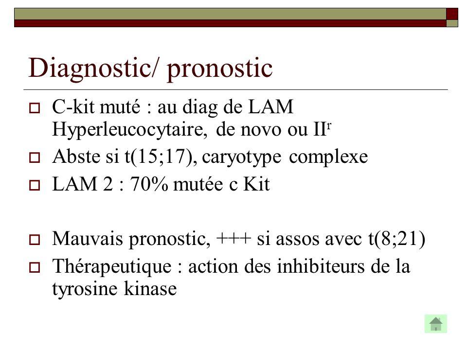 Diagnostic/ pronostic