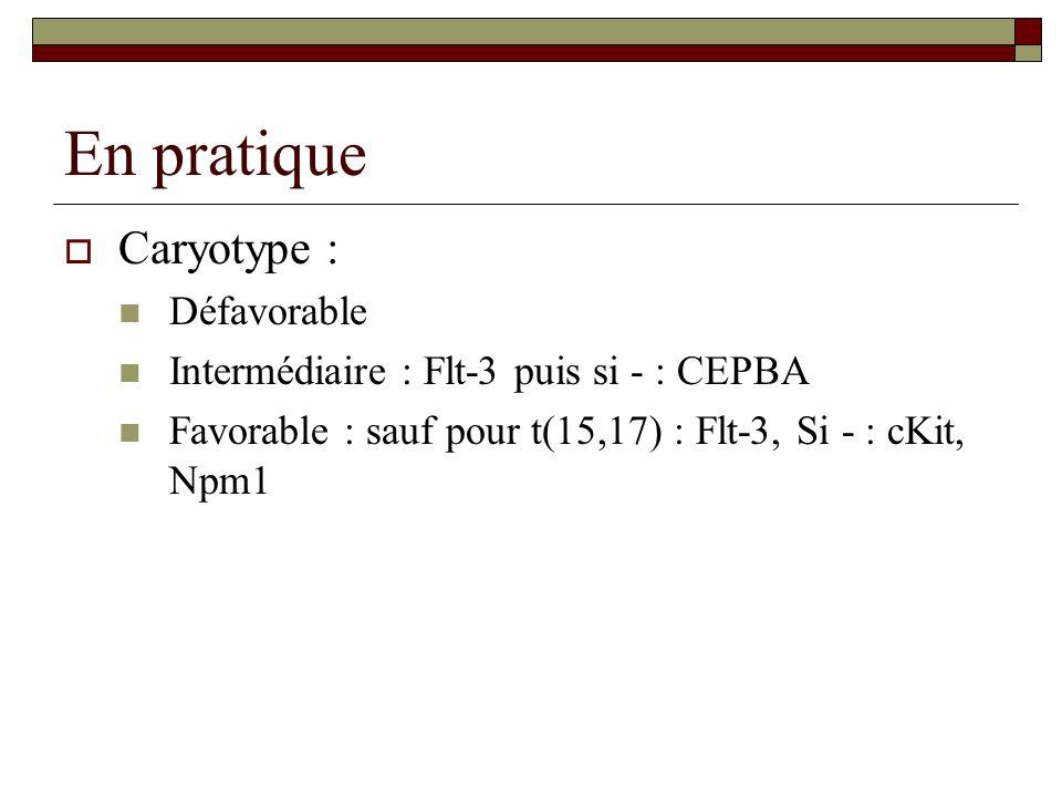 En pratique Caryotype : Défavorable
