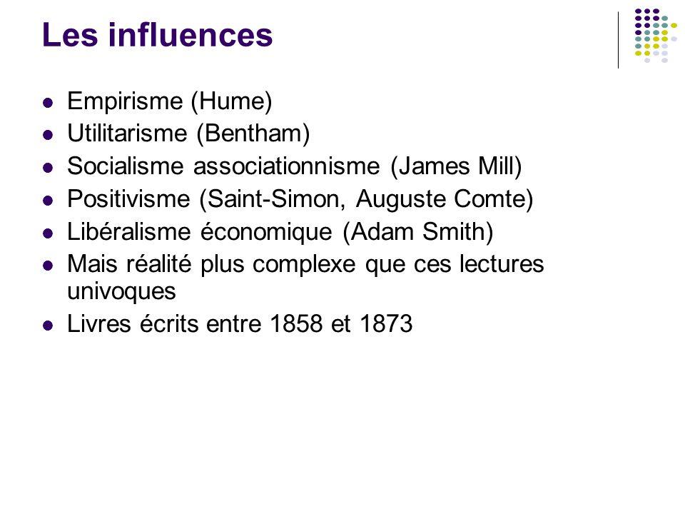 Les influences Empirisme (Hume) Utilitarisme (Bentham)