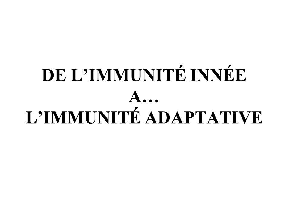DE L'IMMUNITé INNée A… l'immunité adaptative