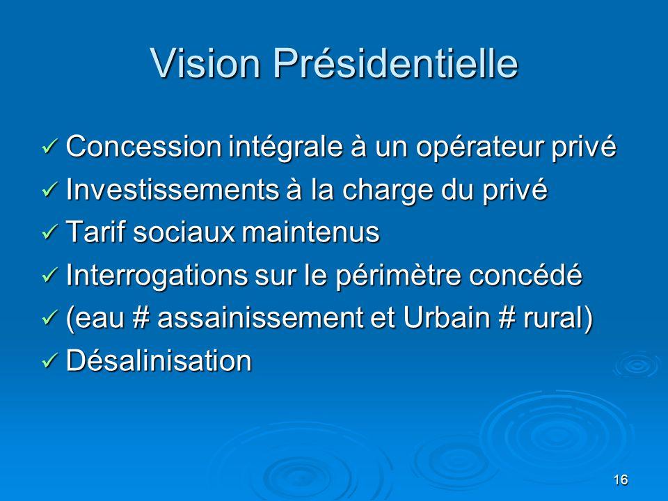 Vision Présidentielle