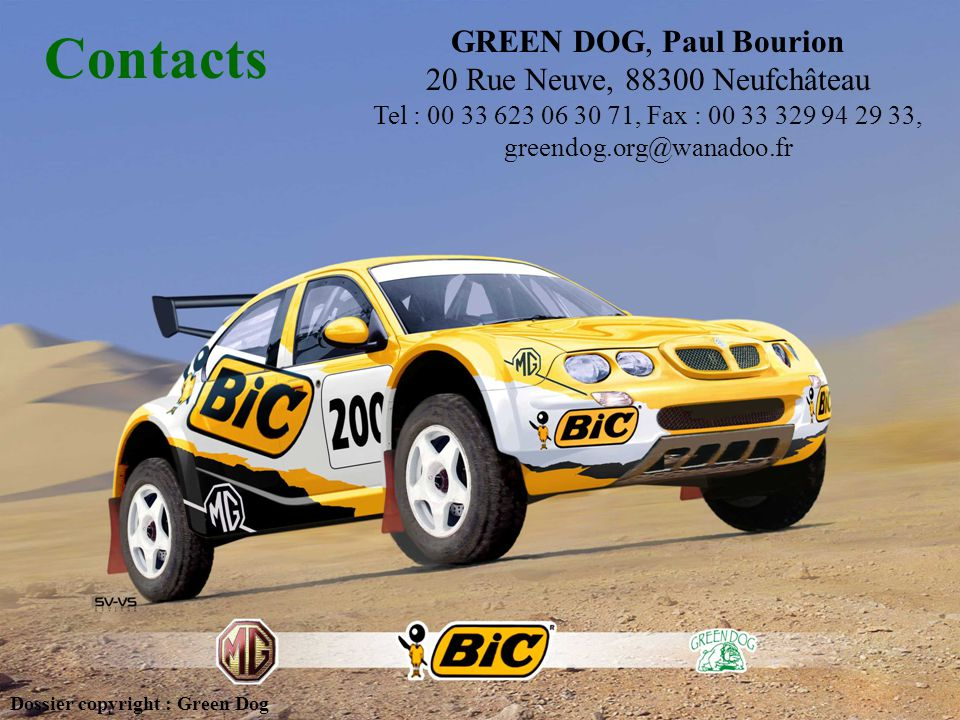 Contacts GREEN DOG, Paul Bourion 20 Rue Neuve, 88300 Neufchâteau