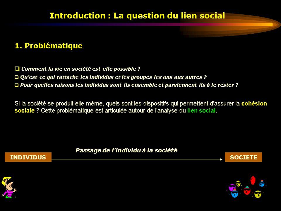 Introduction : La question du lien social