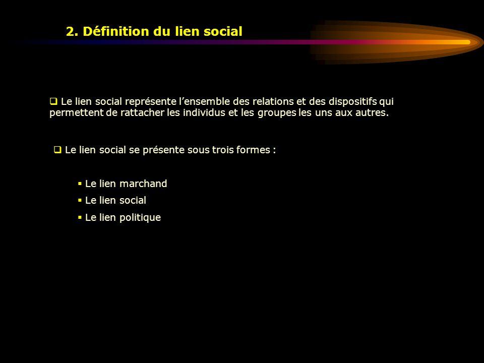 2. Définition du lien social