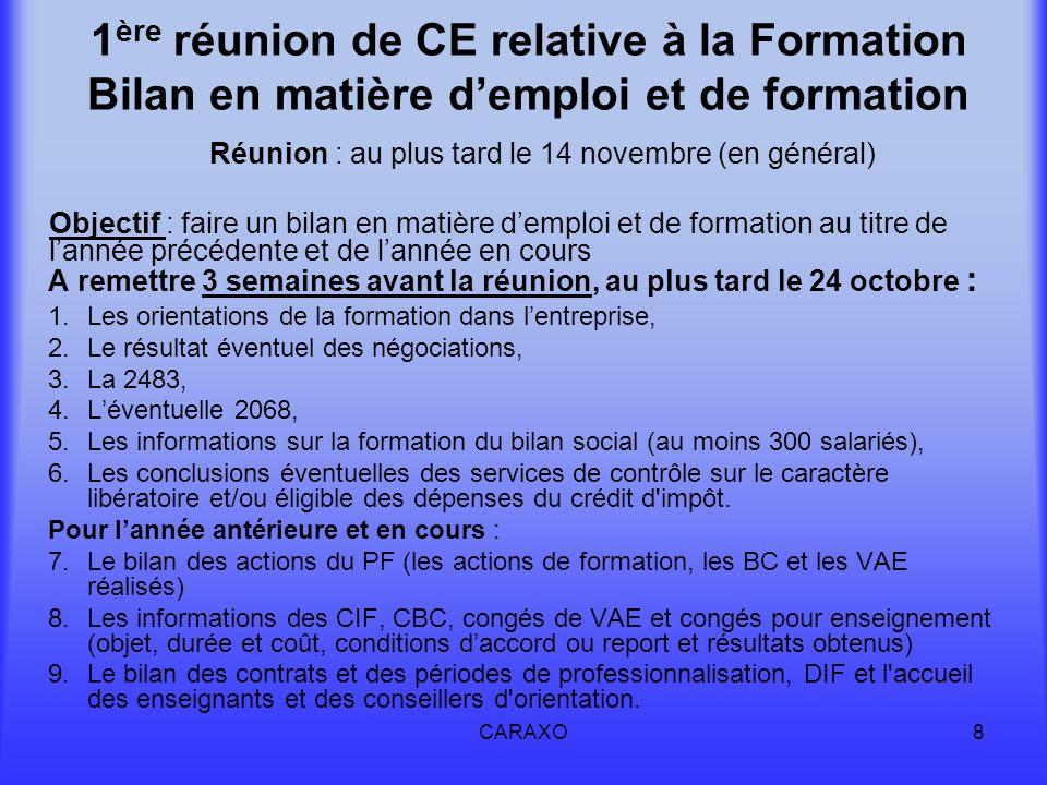Réunion : au plus tard le 14 novembre (en général)