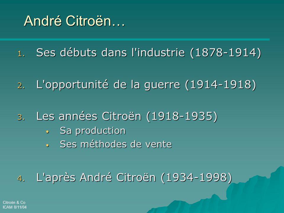 André Citroën… Ses débuts dans l industrie (1878-1914)
