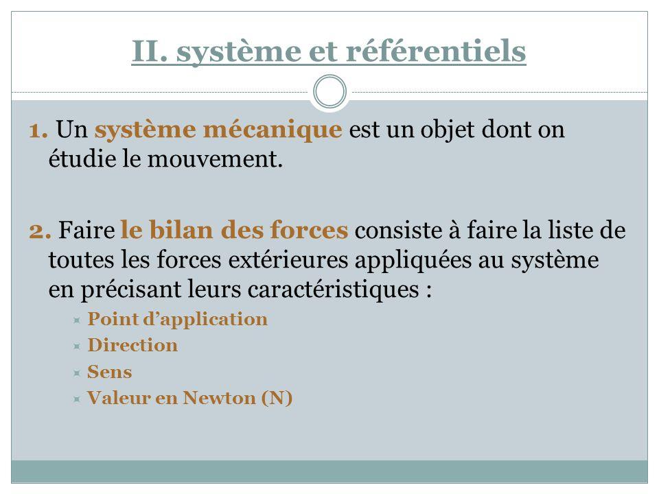 II. système et référentiels