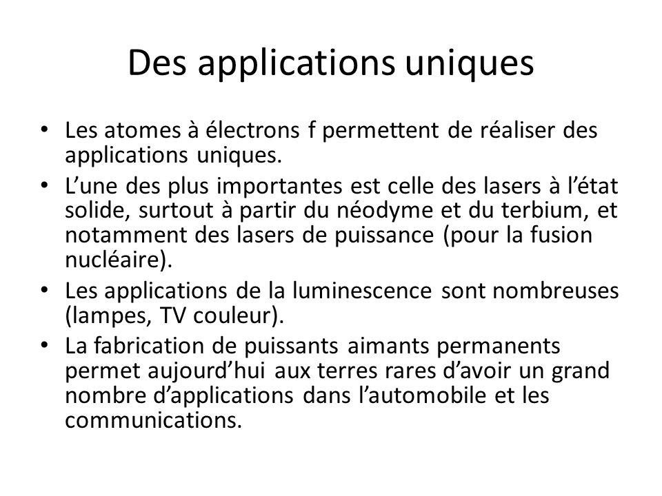 Des applications uniques