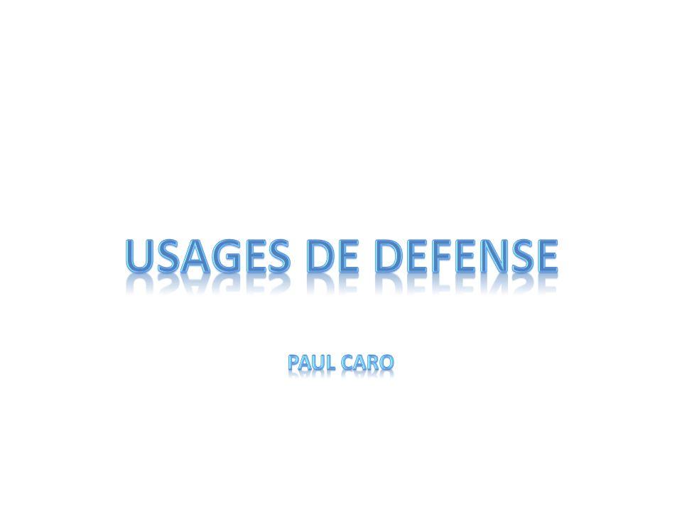 Usages de defense Paul caro