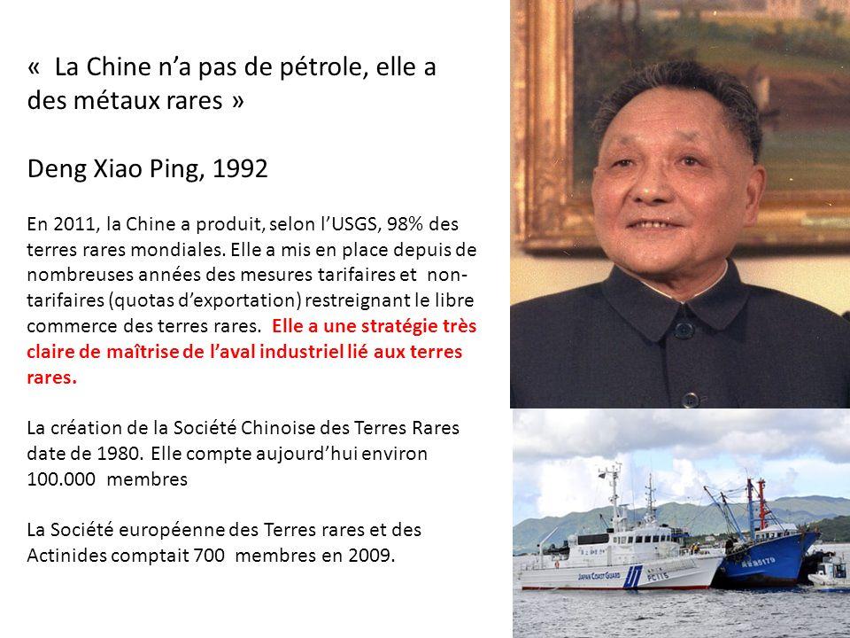 « La Chine n'a pas de pétrole, elle a des métaux rares »