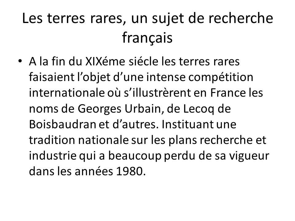 Les terres rares, un sujet de recherche français