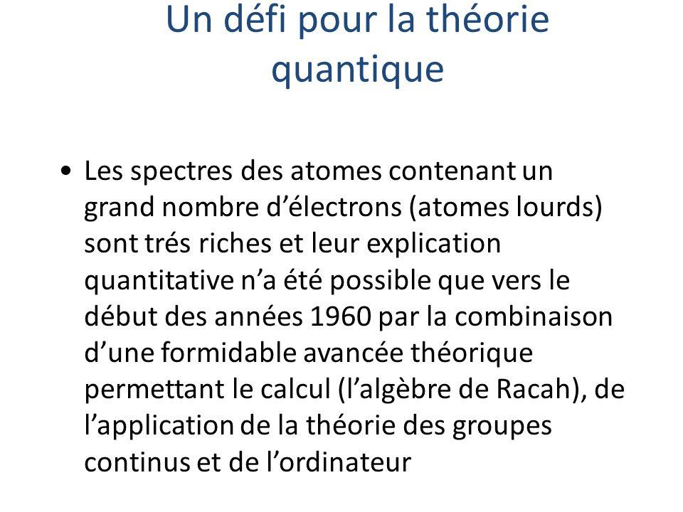 Un défi pour la théorie quantique