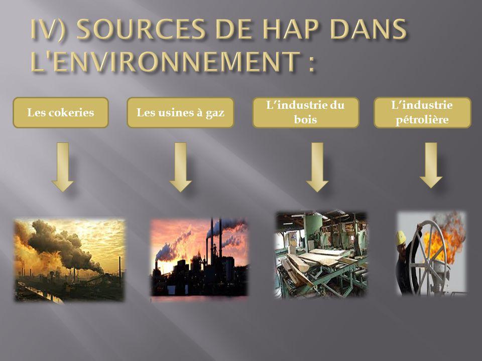 IV) SOURCES DE HAP DANS L ENVIRONNEMENT :