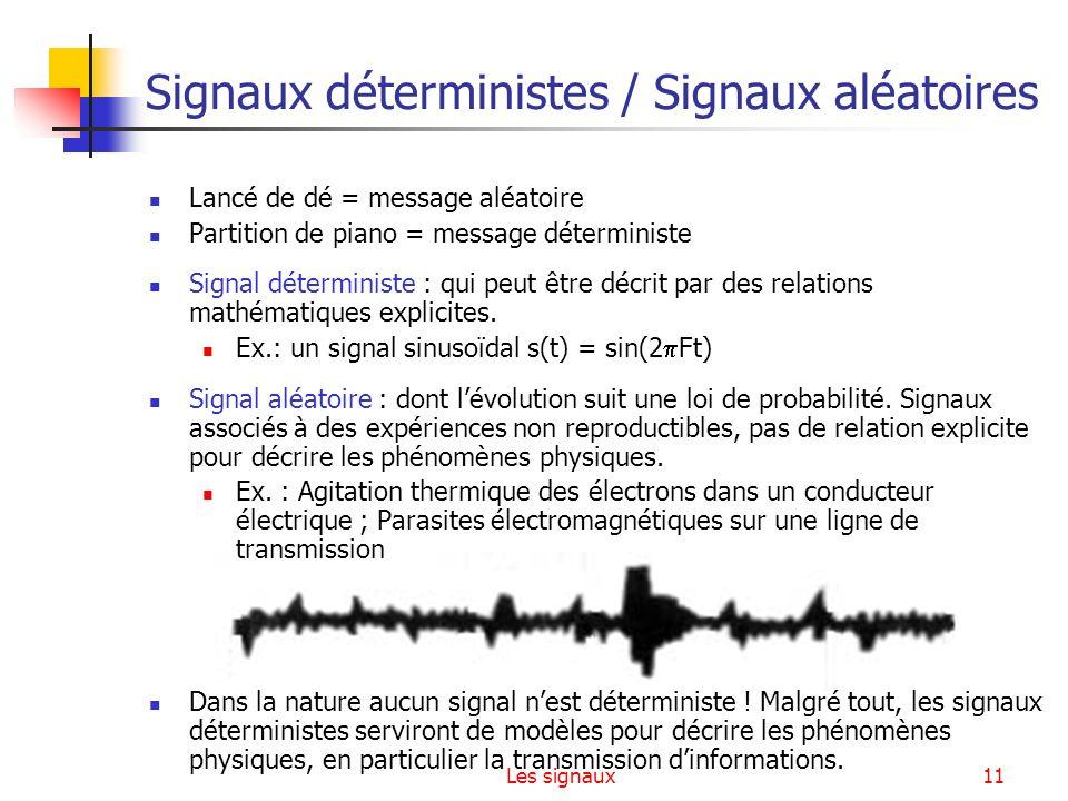 Signaux déterministes / Signaux aléatoires