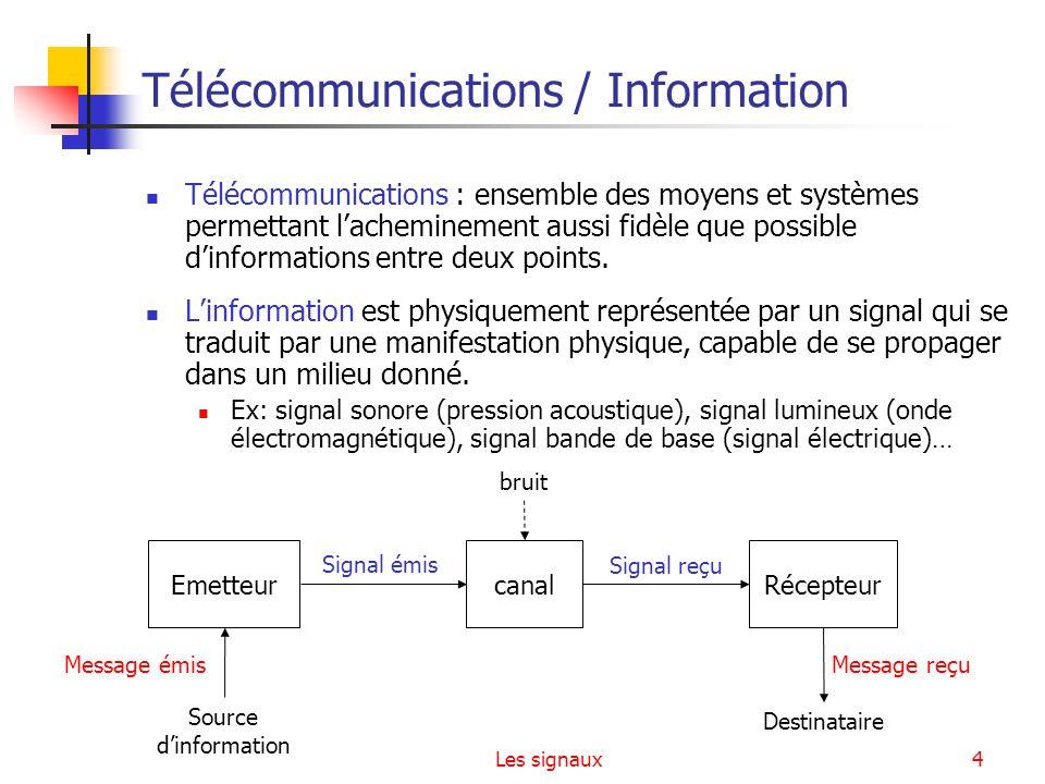 Télécommunications / Information