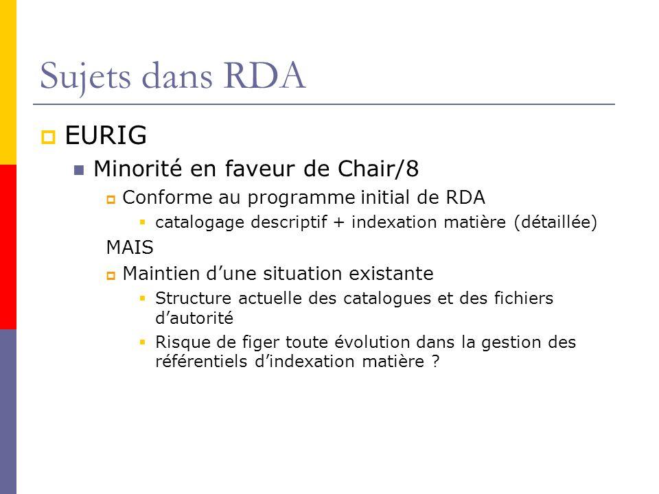 Sujets dans RDA EURIG Minorité en faveur de Chair/8