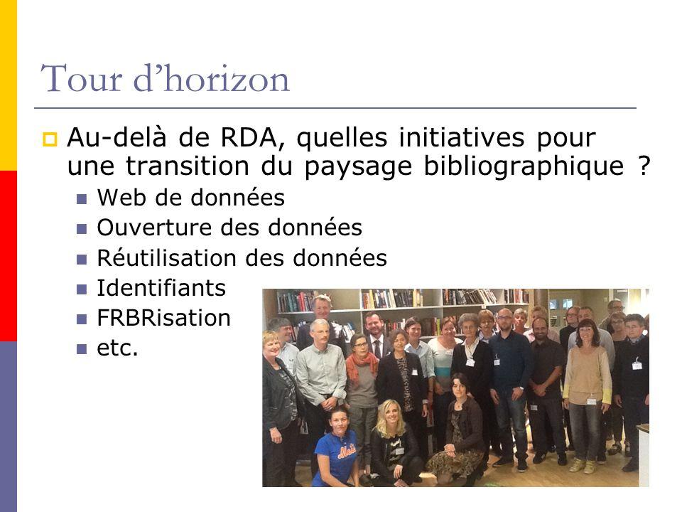 Tour d'horizon Au-delà de RDA, quelles initiatives pour une transition du paysage bibliographique