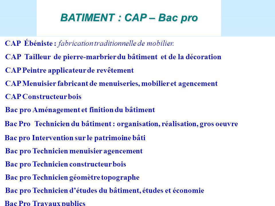 8 rue Daubenton Dijon Ouvert les lundi, mardi, jeudi de 9à 12 h et de 13à 17h30 le mercredi de  # Bac Pro Technicien Constructeur Bois