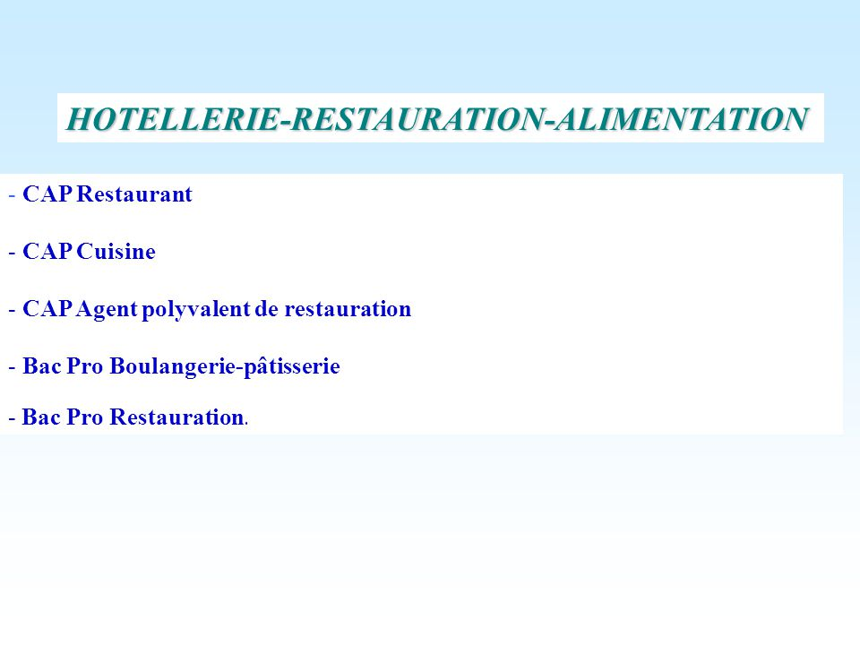 HOTELLERIE-RESTAURATION-ALIMENTATION