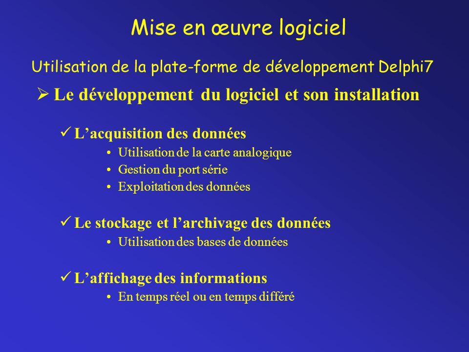 Utilisation de la plate-forme de développement Delphi7