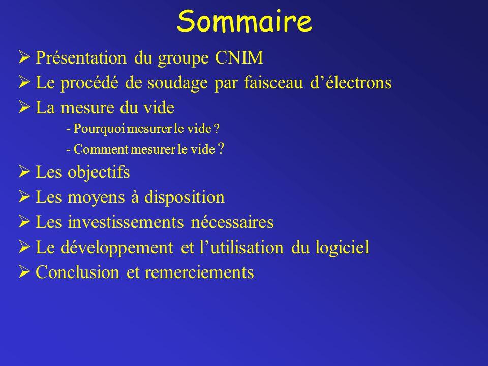 Sommaire Présentation du groupe CNIM