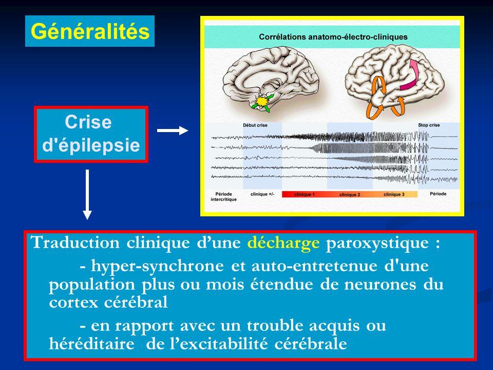 Généralités Crise d épilepsie