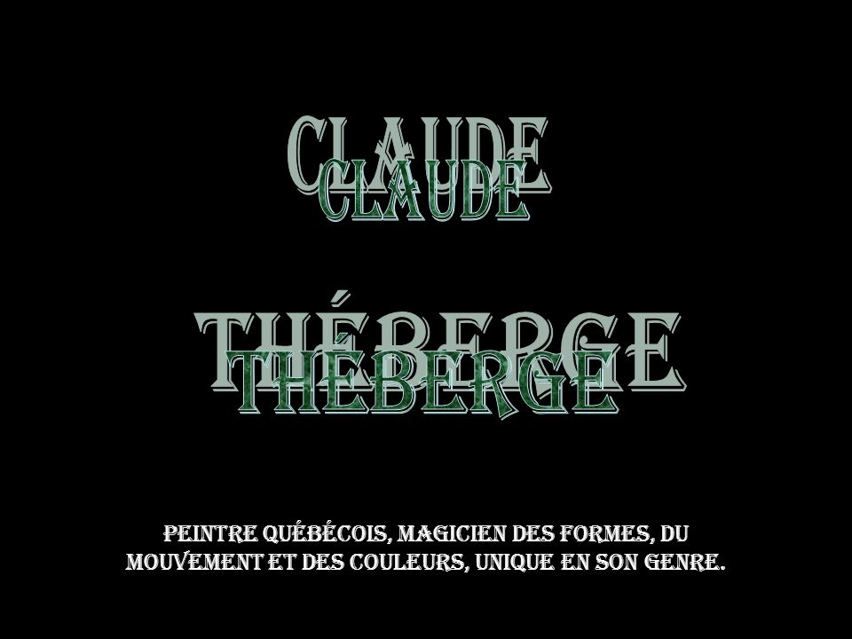 Claude Théberge.