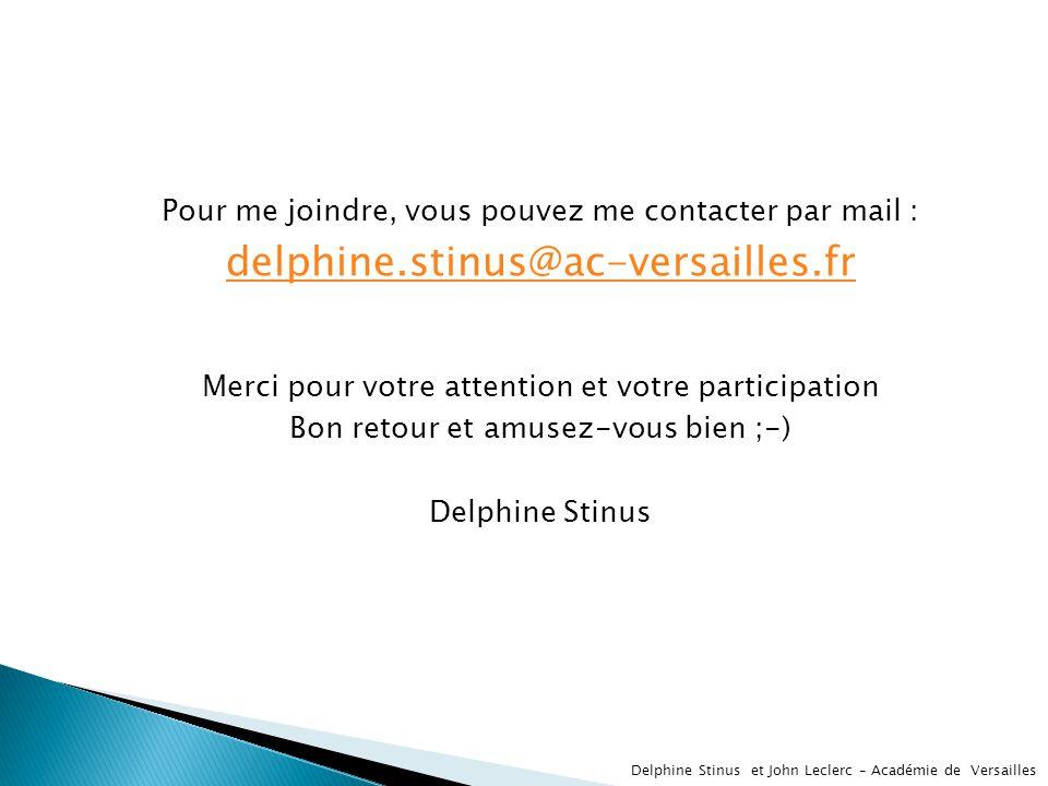 Pour me joindre, vous pouvez me contacter par mail :