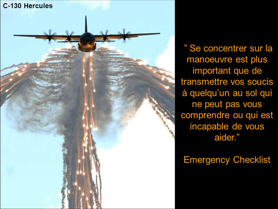 Emergency Checklist C-130 Hercules