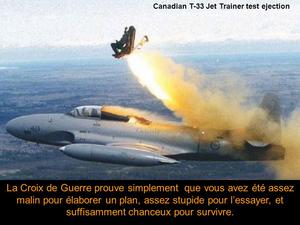 Canadian T-33 Jet Trainer test ejection