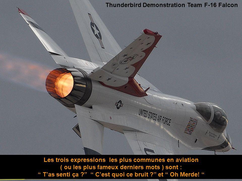 Les trois expressions les plus communes en aviation
