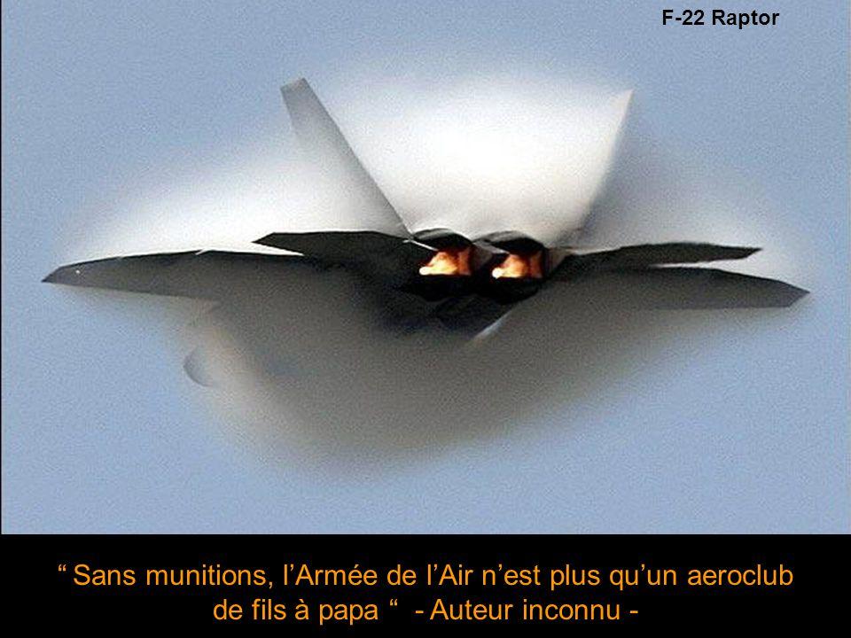 Sans munitions, l'Armée de l'Air n'est plus qu'un aeroclub