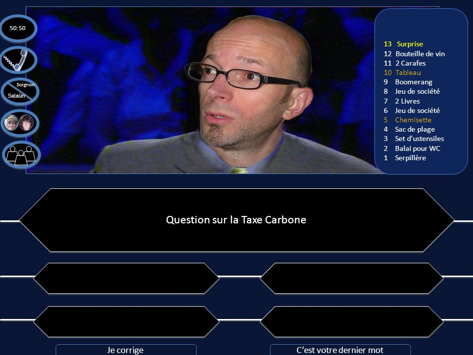 Question sur la Taxe Carbone
