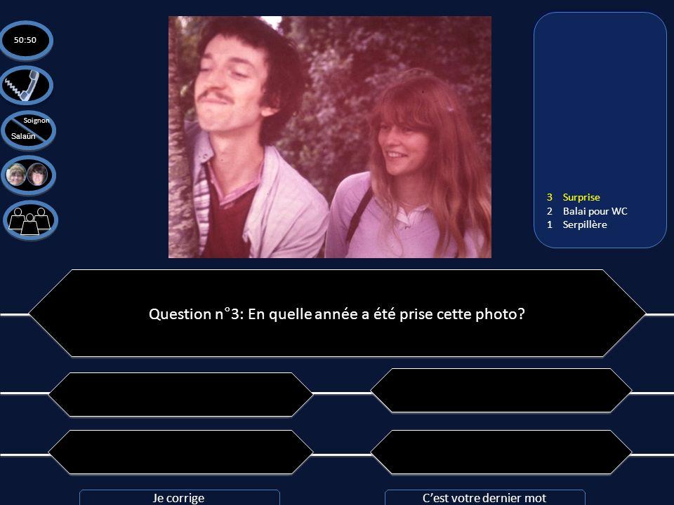 Question n°3: En quelle année a été prise cette photo