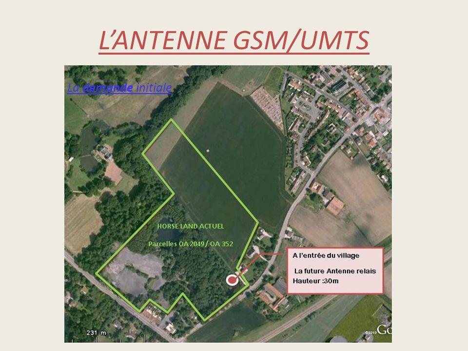L'ANTENNE GSM/UMTS La demande initiale