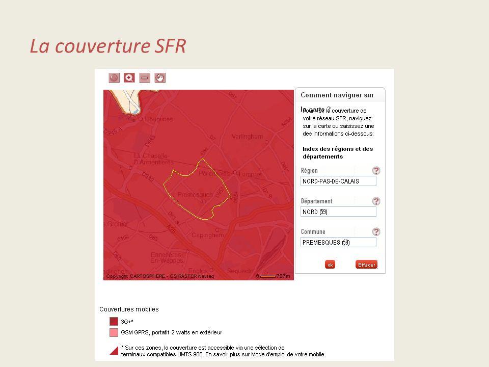 La couverture SFR
