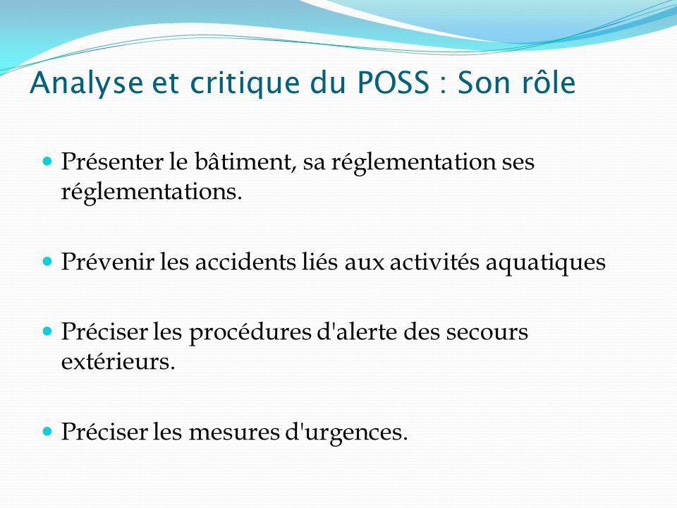 Analyse et critique du POSS : Son rôle