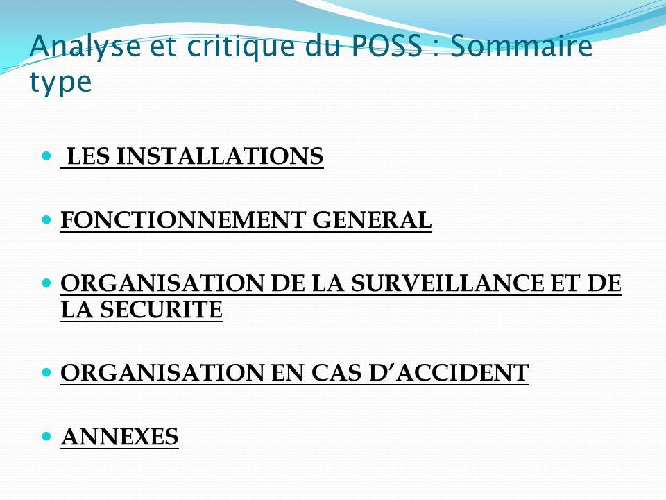 Analyse et critique du POSS : Sommaire type